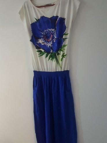 Duga haljina sa cvetom.ima jedno sitno ostecenje - Bor