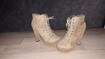 Čizme slabo korišćene, broj 38, visina štikle 13 cm - Nis