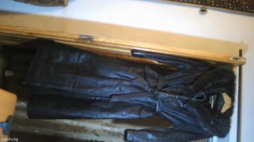 Продаю кожаное пальто   с  меховым в Бишкек