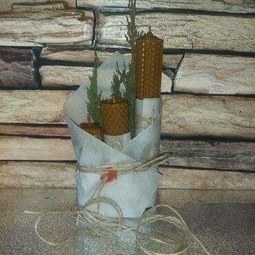 Свечи из натурального пчелиного воска и вощины. экологически чистый и