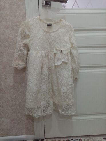 Нарядное белое платье на 5-6лет