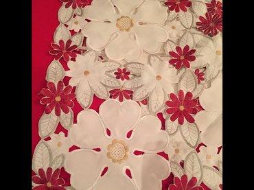 салфетки ришелье бело красные размер  42 см х 27 см в Бишкек