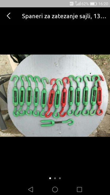 Spaneri za zatezanje sajli  14 komada, 12mm - Borca