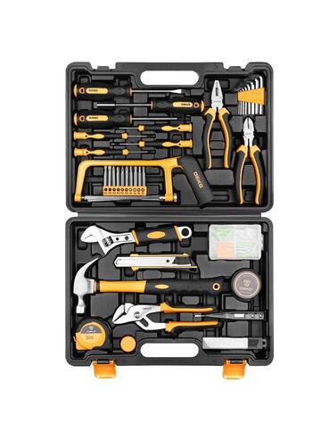 Наборы инструментов - Кыргызстан: Набор инструмента для дома в чемодане DKMT102 (102 предмета)  Набор и