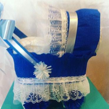 Коляска из памперсов.подарок для новорожденных. в Бишкек