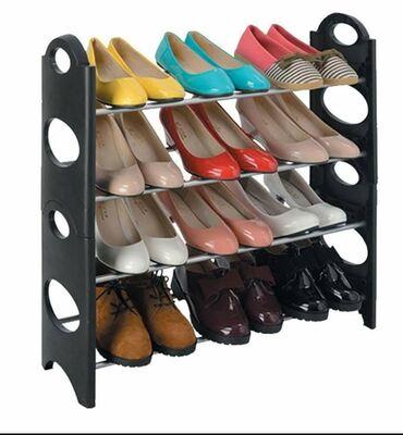 Praktičan stalak za obućuPolice u 4 nivoaDo 12 pari Dimenzije: 65 x 65