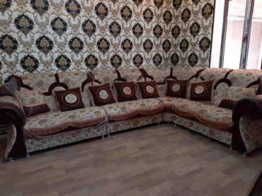 дамас ош сена in Кыргызстан   УНАА ТЕТИКТЕРИ: Угловой дивань с пуфиком