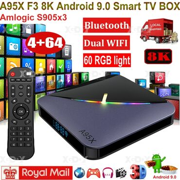 TV Box A95X F3на чипеSoC Amlogic S905X3изготовленный по технологии