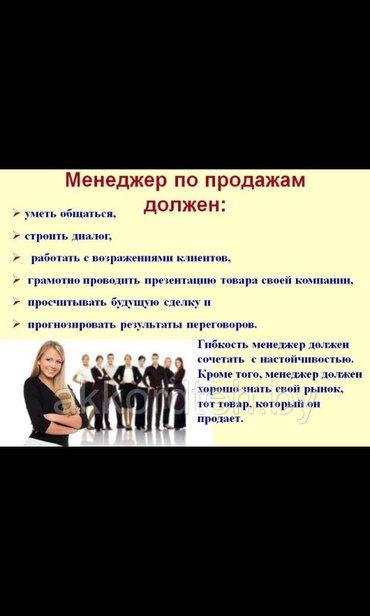 Требуются менеджер по продажам  В компанию GAS в Бишкек