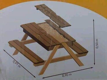 Klupe - Srbija: Drvene klupe i sto za decu 8500din