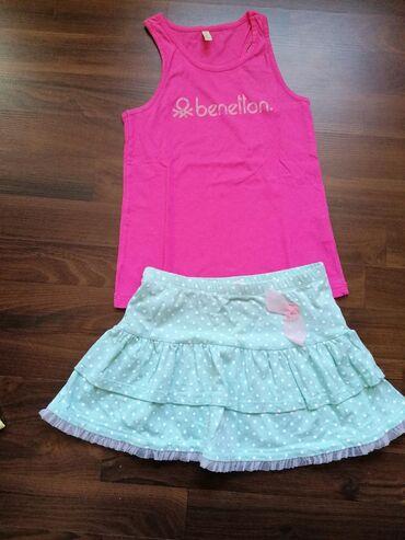 Komplet očuvane garderobe za devojčice, veličina 6-7