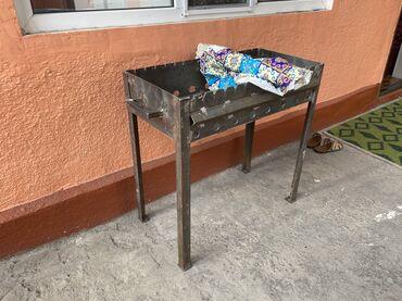 smoker koptilnja gril mangal в Кыргызстан: Отличный новый мангал для шашлыка, сделан качественно, размеры 97х40