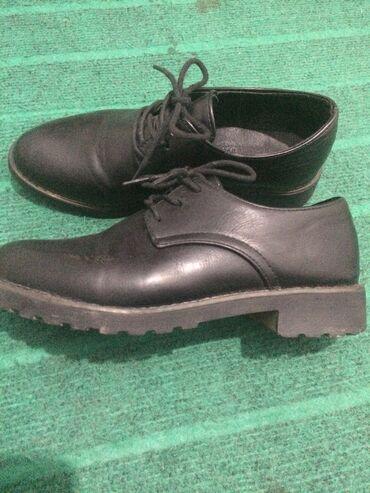 Туфли для девочек. Полностью чёрный. В классическом стиле.Со шнурками