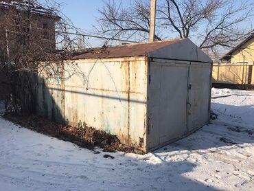 Железный гараж+контейнер маленький срочно,состояние хорошее,самовывоз