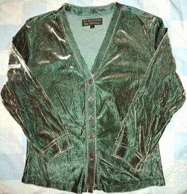 Vrhunska somotna italijanska bluza.Jedinstvena,sa elastinom.Nova,MMade