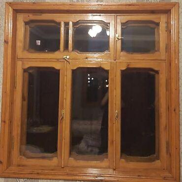 pencere - Azərbaycan: Taxta pencerler. iki qat pencere 2eded. olcusu 144sm-144sm. Tek qat