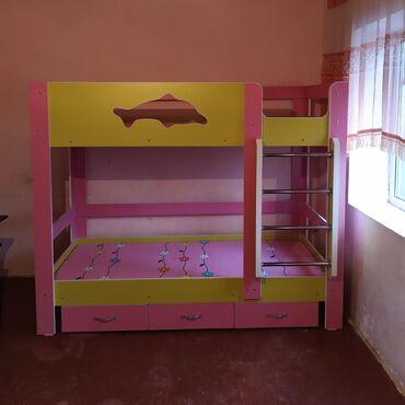 Другие кровати в Кыргызстан: Двухярусный кровайт1.90-80спалный места российский ламинат 8000с