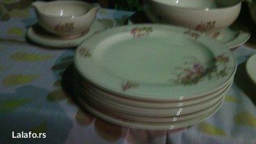 Prelepi porcelanski set, za ručavanje..  Set čine dve činije za čorbic - Cuprija - slika 7