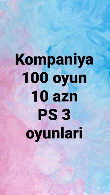 подарок мужу на новый год в Азербайджан: 100 oyun 10 man. V.7 en son oyunlar. Ps3 oyunlarin yazilmasi 100 oyun