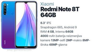 Mobilni telefoni - Vrsac: Upotrebljen Xiaomi Redmi 8 128 GB plavo
