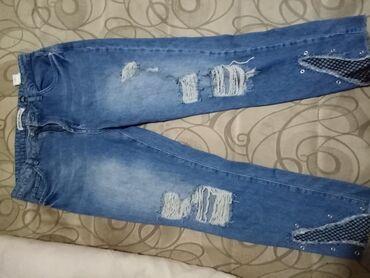 Pantalone e - Srbija: Kotton pocepane farmerke L vel. NEMA oštećenja. Fixna cena