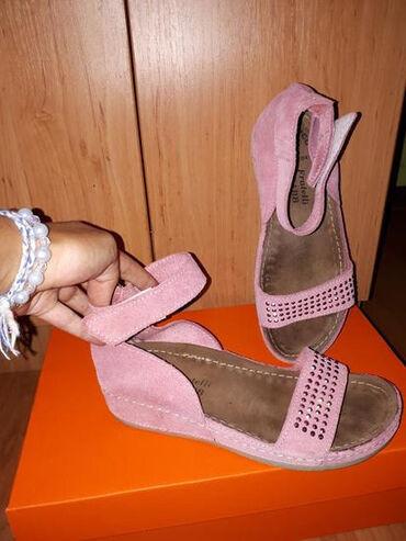 Posao u italiji - Srbija: Fratelli Bubb kožne italijanske sandale. Odgovaraju broju 37, iako je