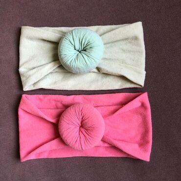 Повязки для девочки ткань копроновая цвет розовая и ментоловая