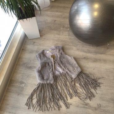 Желетка с натуральным мехом ... размер s в Бишкек