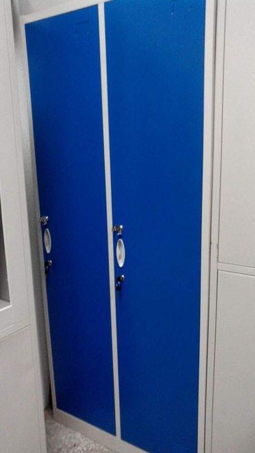 шкаф-для-одежды-из-ткани в Кыргызстан: Гардеробный шкаф.Металлический шкаф для одежды.Двухсекционный, размеры