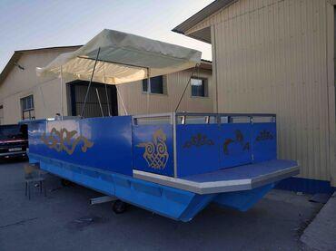 Водный транспорт - Кыргызстан: Пантон, Понтон, Паром, Понтонный катер 2020г выпуска, 7.5 м*2.5 м