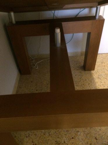Πωλείται τραπεζαρία με μασίφ βαρύ ξύλο τιμή: 250Οι διαστάσεις τους