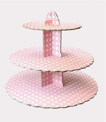 Posuđe | Arandjelovac: 430din 3-slojni kartonski štand za kolače / toranj/ Napravljen od