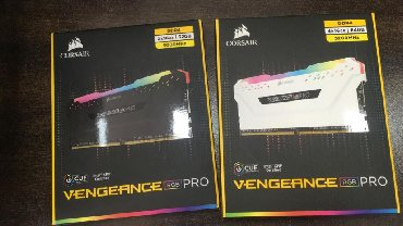 Kompüter ehtiyyat hissələri - Azərbaycan: RGB Corsair 4x16GB 3200Mhz DDR4 RAMCorsair 4x16GB DDR4 RGB
