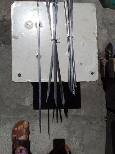 Шампуры из нержавейки новые еще советские 6шт 55 см 100сом за 1шм и 45