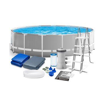 Бассейн каркасный круглый диаметр 4 метра 57 см высота 1 метр 22 см