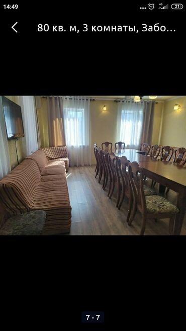 сутки дом в Кыргызстан: 3 комнаты, 60 кв. м С мебелью