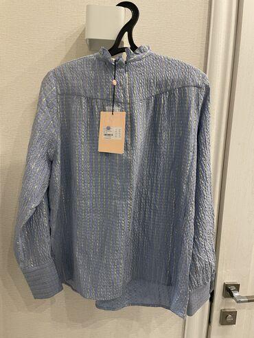 Красивая шелковая блузка, новая, размер М, можно и на S