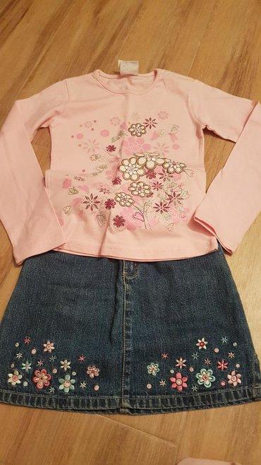 Broj suknjica - Srbija: Novo. prelepa teksas suknjica br.128 i bluza br,134,iz Nemacke