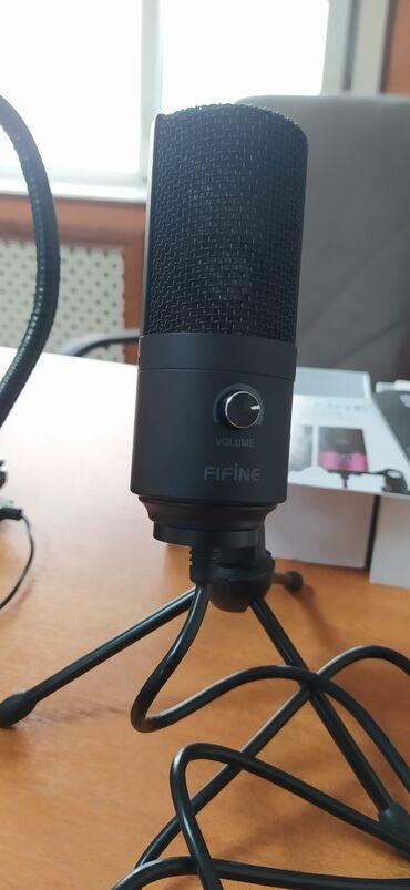 самый дешевый корм для собак в Кыргызстан: Продается студийный USB микрофон Fifine k-669 Пользовался 1 раз Новая