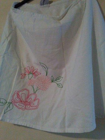 Suknja vezena ,letnja bela ima podstavu,za krupnije dame - Sombor