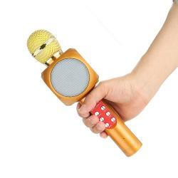 Elektronika - Kopaonik: Mikrofon karaoke bluetooth blutut zvucnik MODEL WS 1816 Zlatne boje