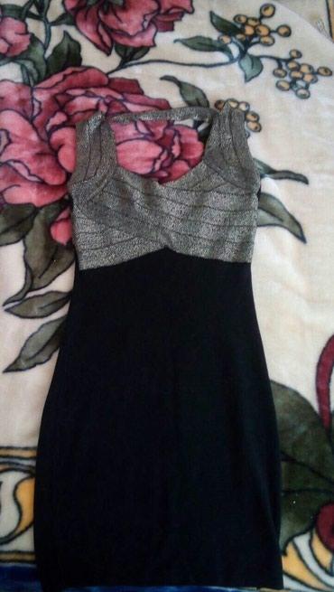 Crno zlatna haljina,M vel,ali ima dosta elastina - Pozarevac