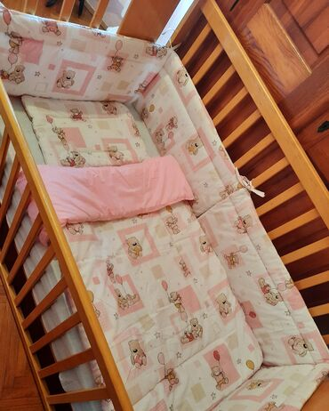 Ogradica za bebe - Srbija: Ogradica 30x240cm +posteljina Sve sa slike za krevetac 120x60cm.Novo