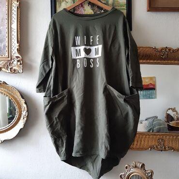 Baggy dukserica -haljina -kao nova / 38tunika haljina sa baggy fazonom