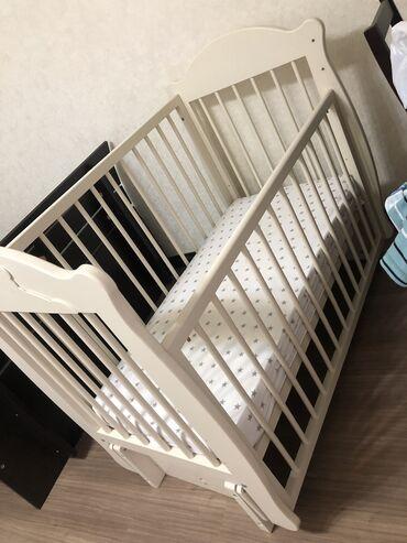 """Детская кровать Б/У 7000 сом + матрац от бренда """"Mother Care"""". Высота"""