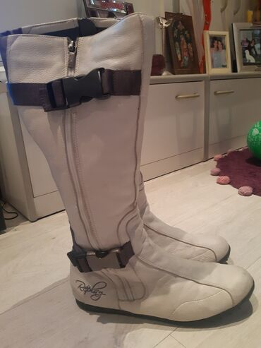 Broj cizme - Srbija: Original Replay kozne cizme, vrlo malo nosene. Broj 40