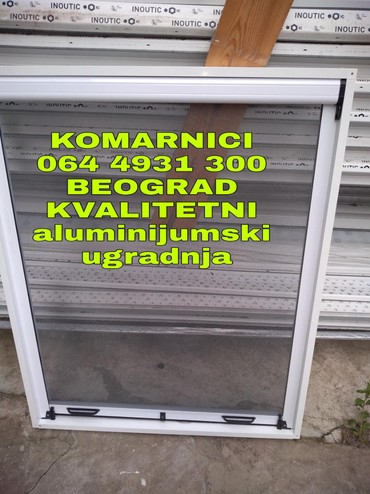 Komarnici,po meri,Ugradnja,proizvodnja,prodaja.Beli i braon,Rolo - Belgrade