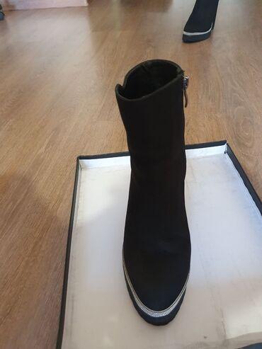 Чёрные ботинки, натуральная кожа, в идеальном состоянии Brunello