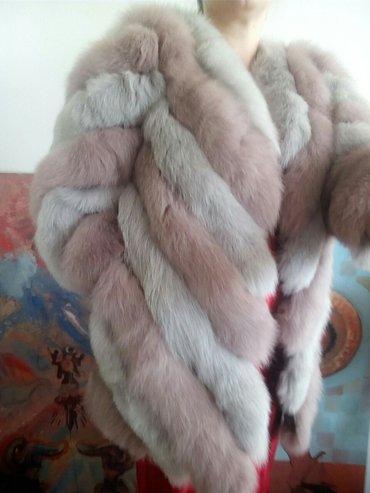 Nova bunda od lisice roze siva.S, prelepo krzno,boja divna. ramena - Beograd