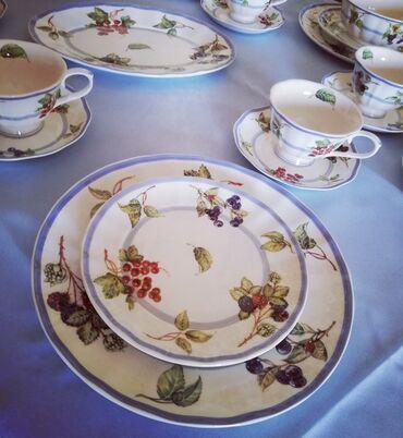 Набор посуды НОВЫЙ чайно-столовый сервиз на 6 персон, отличный